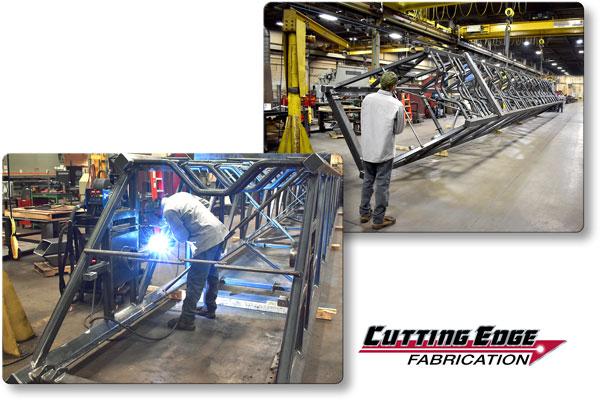 MIG Welding Fabrication of Extendable Conveyor Rail