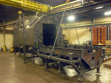 300 Inch Blasting Cabinet Fabrication
